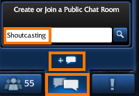 JoinChatShoutcasting