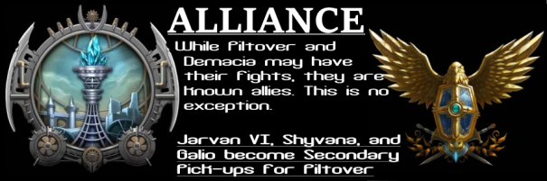 Piltover-Demacia Raptor Alliance Banner
