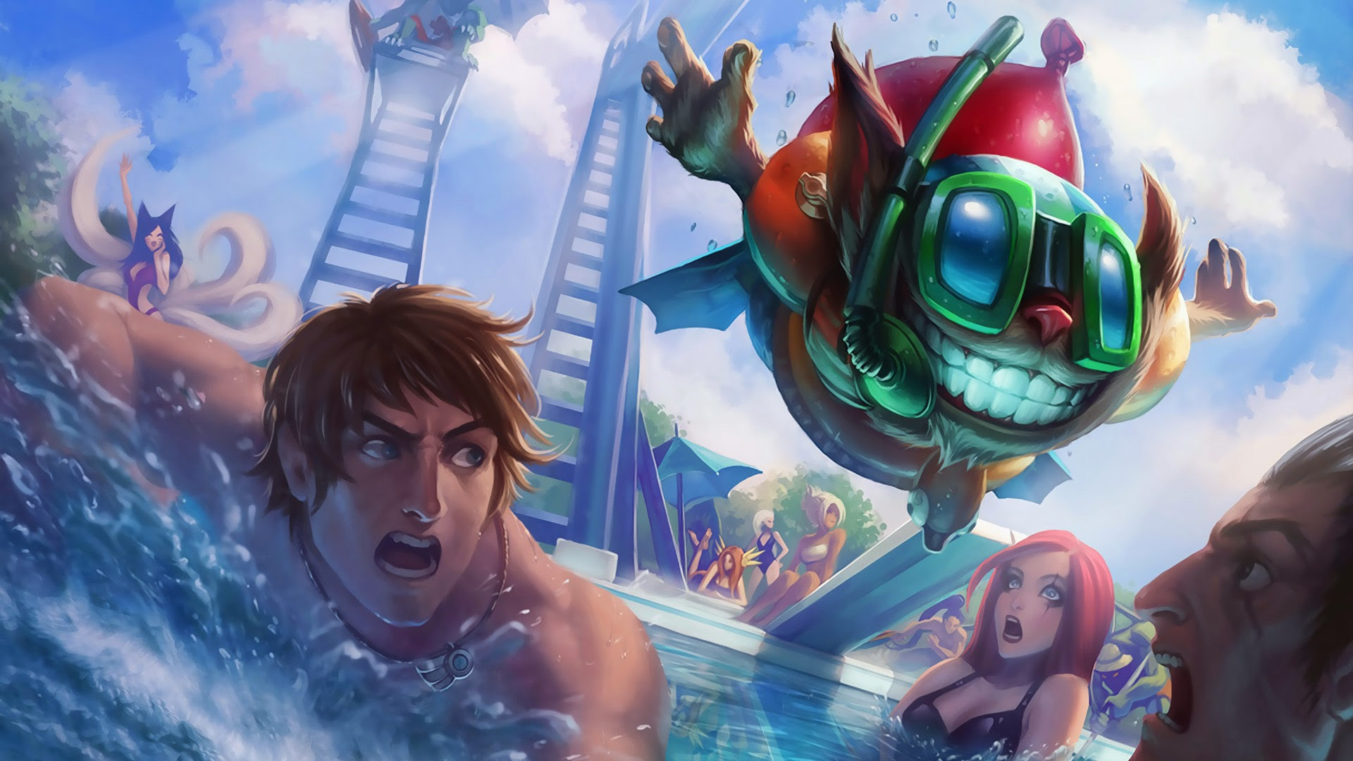 League of legends wallpaper pack - League Of Legends Pool Party Hd Wallpaper 1920x1080