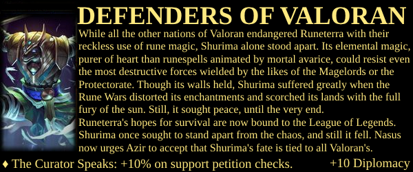 Shurima Project - Defenders of Valoran